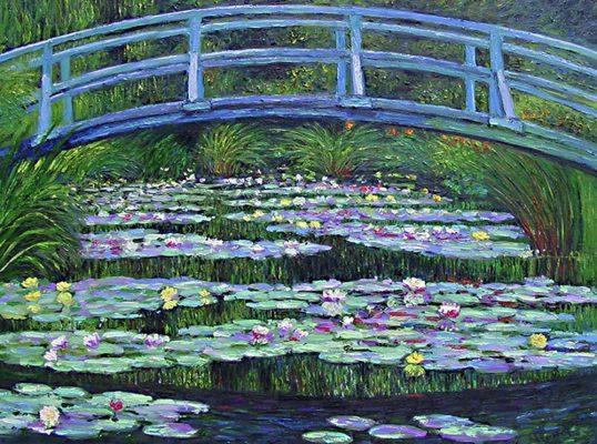 Waterlilies & Japanese Bridge by Claude Monet