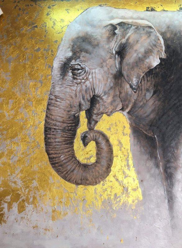 Gentle Giant Elephant painting