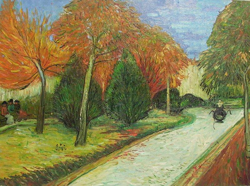 Garden in Autumn van Gogh Replica