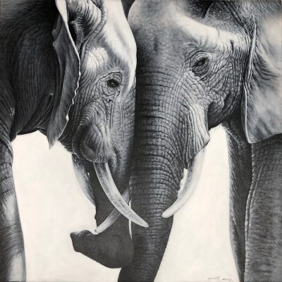 Two Elephants Painting