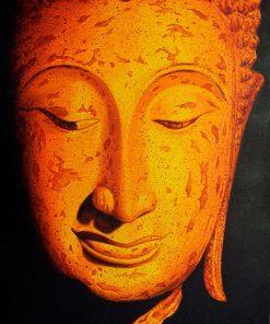 Buddha Sukhothai oil painting on canvas