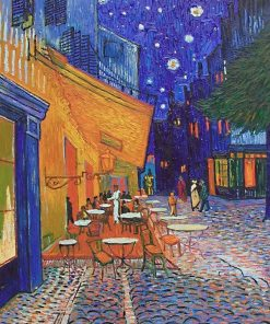 Cafe Terrace at Night Vincent Van Gogh oil painting replica