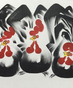 Five Rooster Oil Painting on canvas