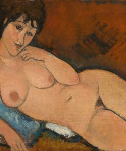 Nude Blue Cushion Modigliani oil painting replica