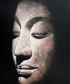 Oil Painting Sandstone Buddha on canvas