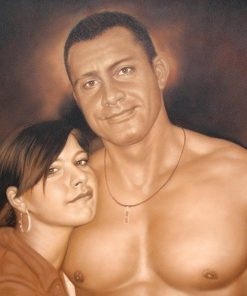 Oil portrait painting hand-painted