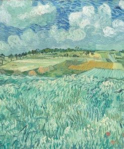 Plain near Auvers Oil Painting Van Gogh replica