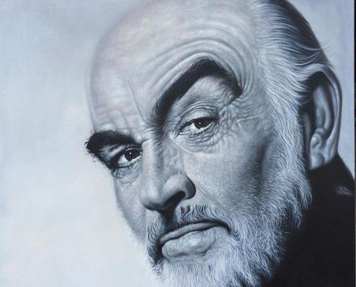Sean Connery Portrait Painting