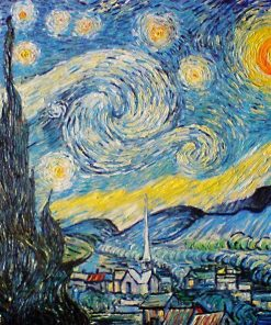 Starry Night Vincent van Gogh oil painting replica