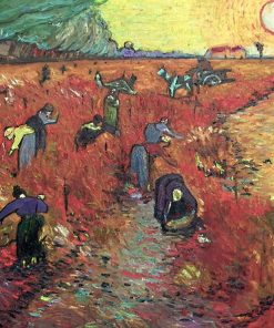 The Red Vineyards near Arles Van Gogh oil painting replica