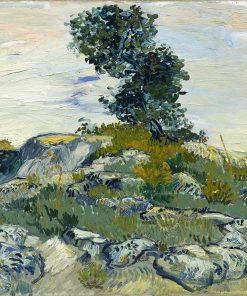 The Rocks Oil Painting Van Gogh - replica