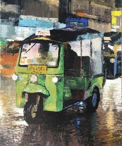Tuk Tuk Green oil painting on canvas