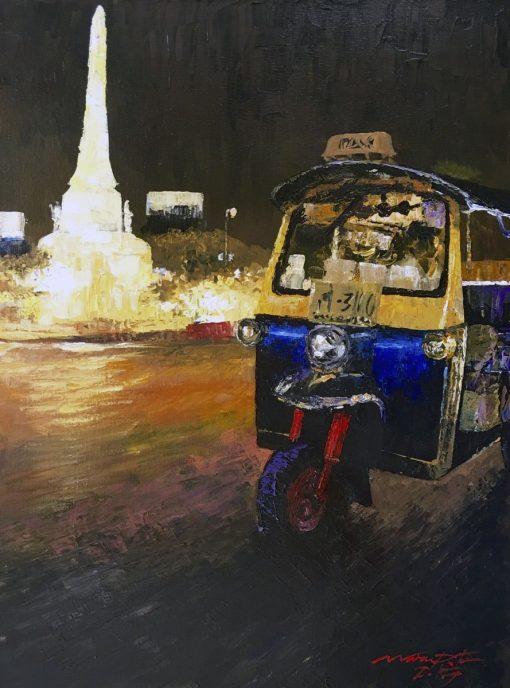 TUK-TUK Oil Painting MEMORIAL