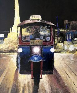 Tuk-Tuk Painting Memorial Oil on canvas