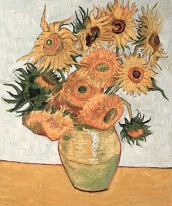 Vase with Twelve Sunflowers Vincent van Gogh oil painting replica