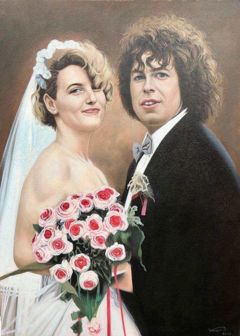 Wedding Portrait Painting oil on canvas
