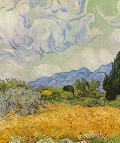 Wheat Field with Cypresses oil painting Van Gogh replica