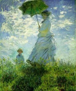 Woman with Parasol – Madame Monet & Son oil painting replica