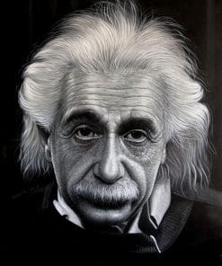 Albert Einstein Portrait Oil Painting