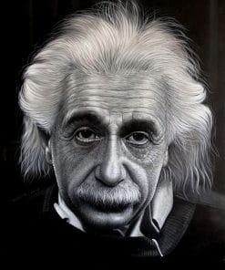 Albert Einstein Portrait Oil Painting
