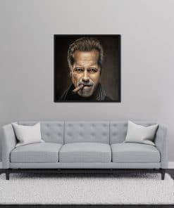 Arnold Schwarzenegger Portrait oil on Canvas