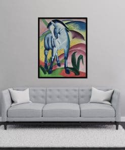Blue Horse oil on canvas painting Franz Marc