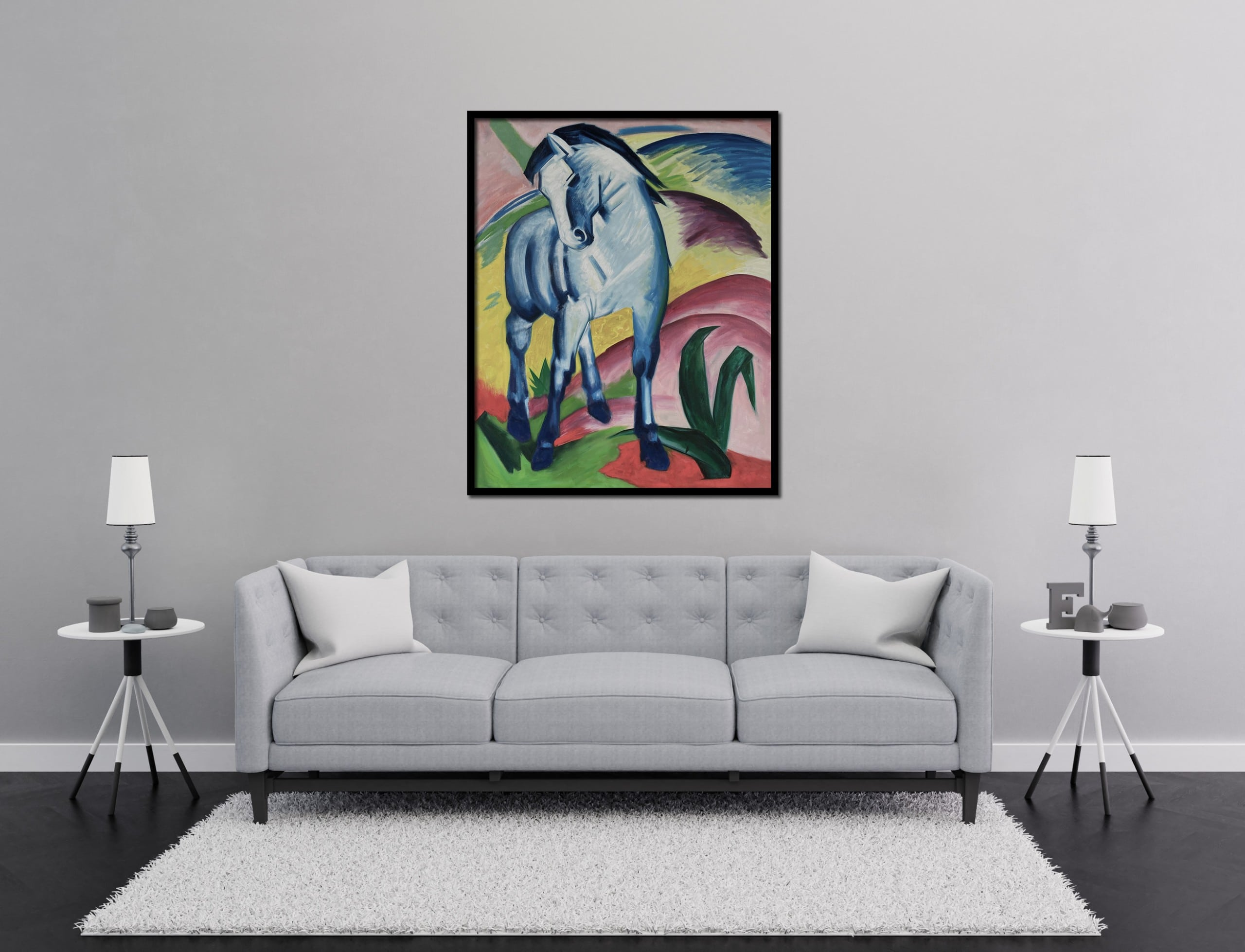 Blue Horse Painting Franz Marc Oil On Canvas Reproduction