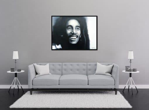 Bob Marley painting hand painted