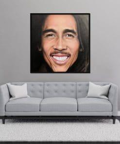 Oil Painting Bob Marley