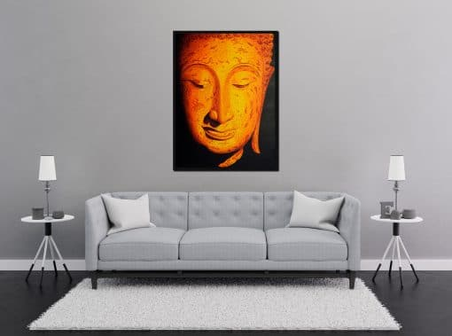 Buddha Sukhothai Painting oil on canvas
