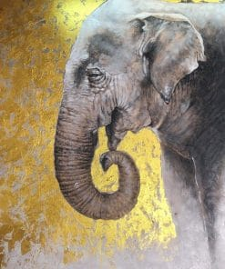 Elephant Painting oil on canvas