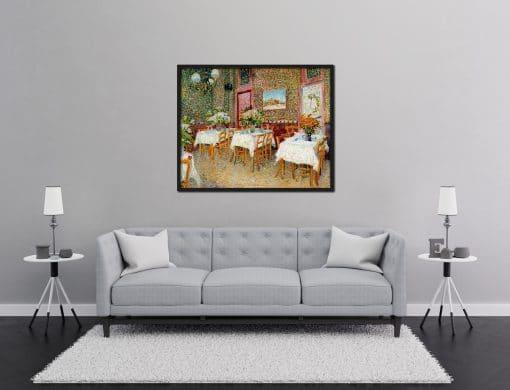 Interior of a Restaurant Van Gogh Oil Painting