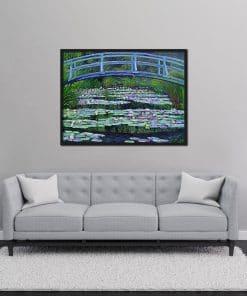 Waterlilies and Japanese Bridge Oil Painting Monet