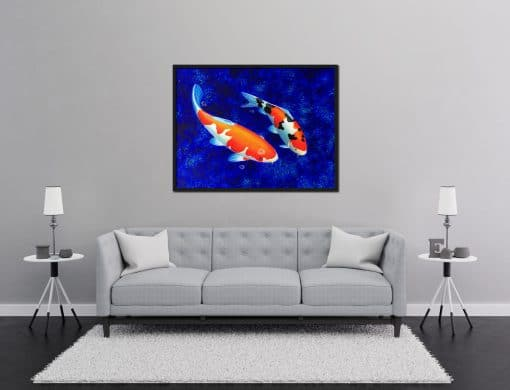Koi Painting Two Koi Fish painted oil on canvas