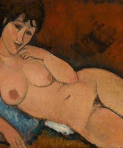 Oil painting Nude with Blue Cushion