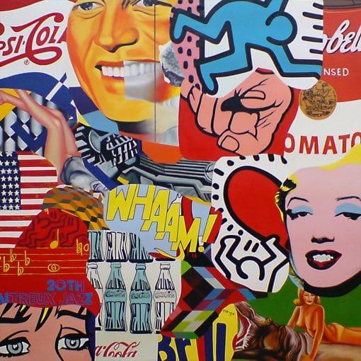 Pop Art Original Painting on canvas