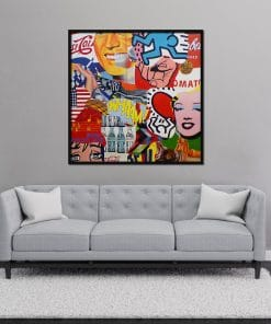 Pop Art Painting on Canvas Original Painting