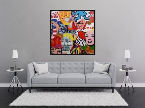 Pop Art Painting on Canvas Original Painting