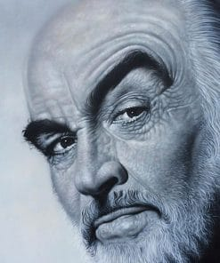 Portrait Painting Sean Connery on canvas