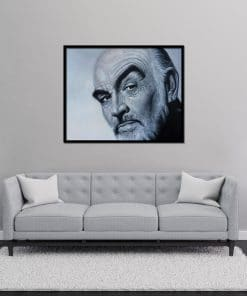 Sean Connery oil painting portrait on canvas