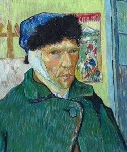 Self-portrait with bandaged ear Van Gogh Oil Painting