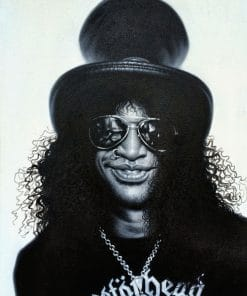 Slash Guns'n Roses painting canvas
