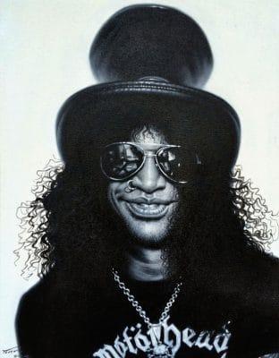 Slash Guns'n Roses painting canvas