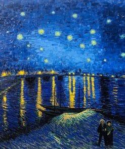 Sternennacht über der Rhone Van Gogh Ölgemälde Reproduktion