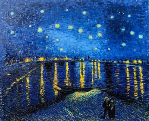 Starry Night over the Rhone Van Gogh oil painting reproduction