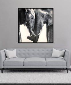 Elephant painting oil on canvas