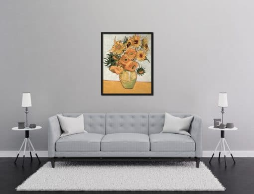 Vase with Twelve Sunflowers Vincent van Gogh oil painting