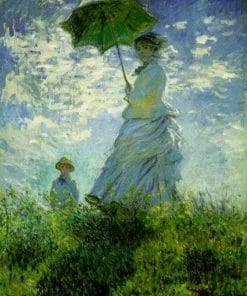 Madame Monet and Son Monet Oil Painting