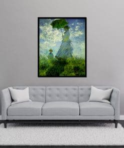 Madame Monet and Son - Woman with Parasol Monet Oil Painting