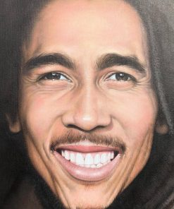 Oil Painting Bob Marley